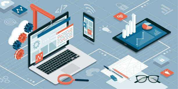 webdesign und entwicklung - webdesigner grafiken stock-grafiken, -clipart, -cartoons und -symbole