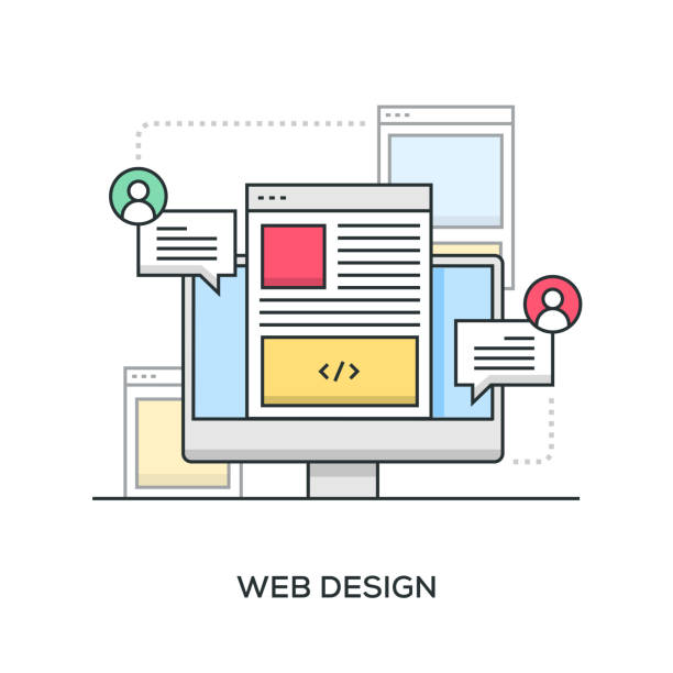 web design banner - strona startowa stock illustrations