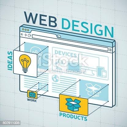 istock Web Design Browser 502911005