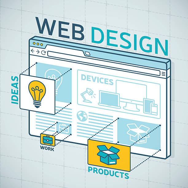 web デザインのブラウザ - webサイト点のイラスト素材/クリップアート素材/マンガ素材/アイコン素材