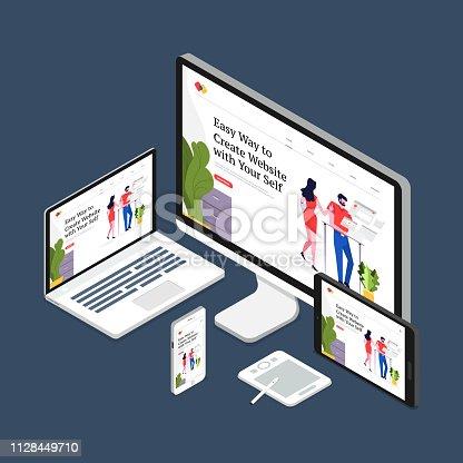 istock Web design concept 1128449710