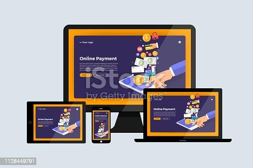 istock Web design concept 1128449791