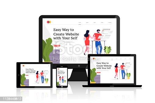 istock Web design concept 1128449812
