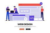 Web Design Concept Vector Illustration for Website Banner, Advertisement and Marketing Material, Online Advertising, Business Presentation etc.