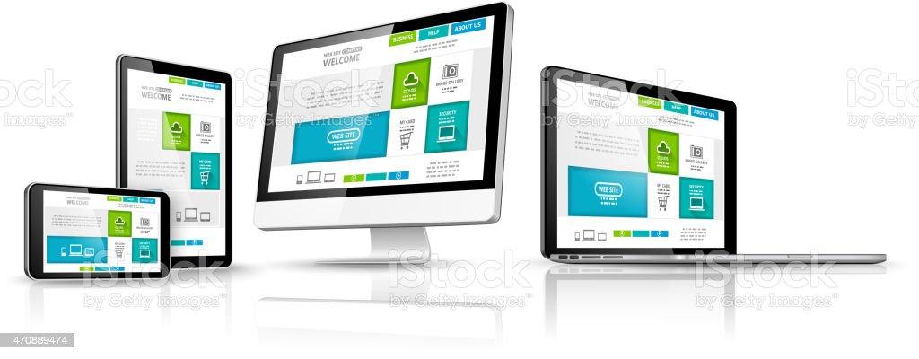 Web design concept. Vector vector art illustration