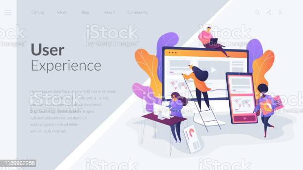 Web Design Development Landing Page Template Stock Illustration - Download Image Now