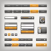 web design elements with reflection