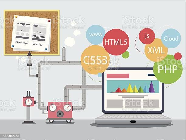 Webdesignfabrik Stock Vektor Art und mehr Bilder von Abstrakt