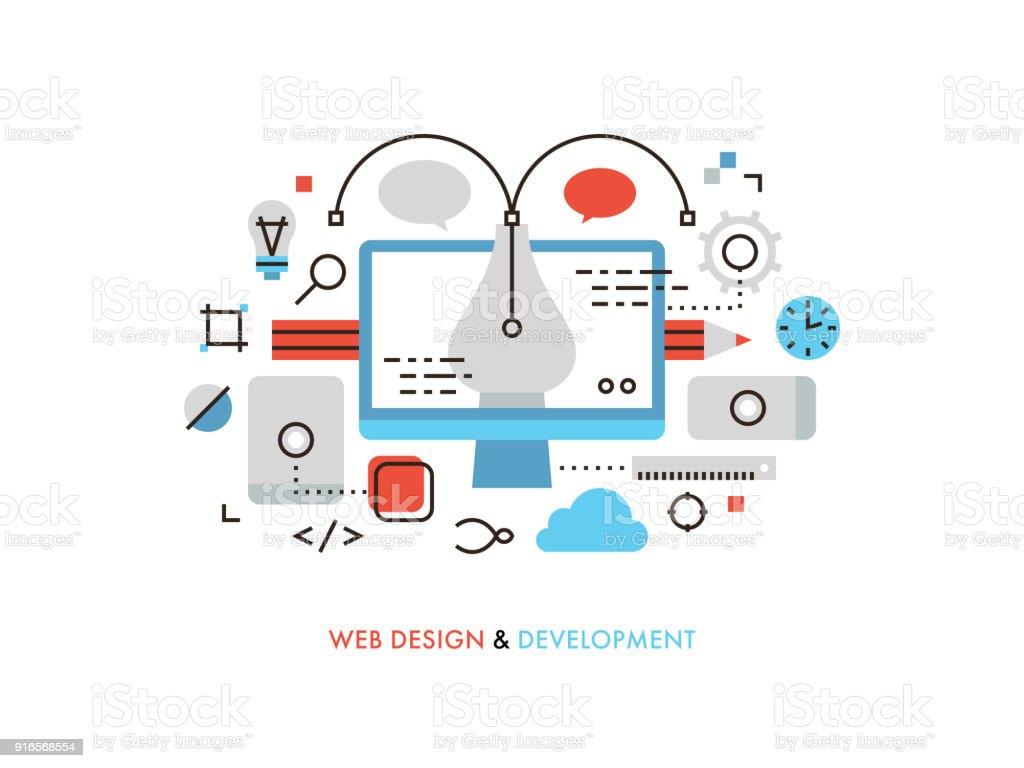 Web デザインの平らな線図 ベクターアートイラスト