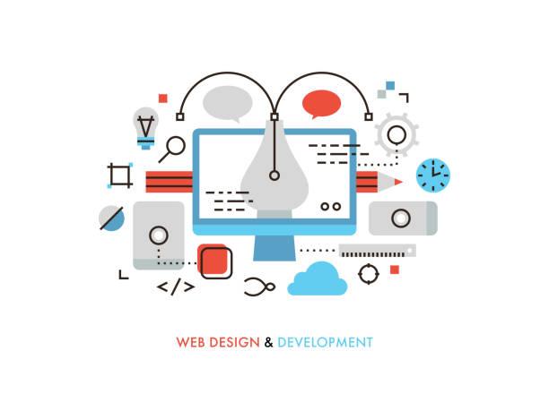 web デザインの平らな線図 - フリーランス点のイラスト素材/クリップアート素材/マンガ素材/アイコン素材