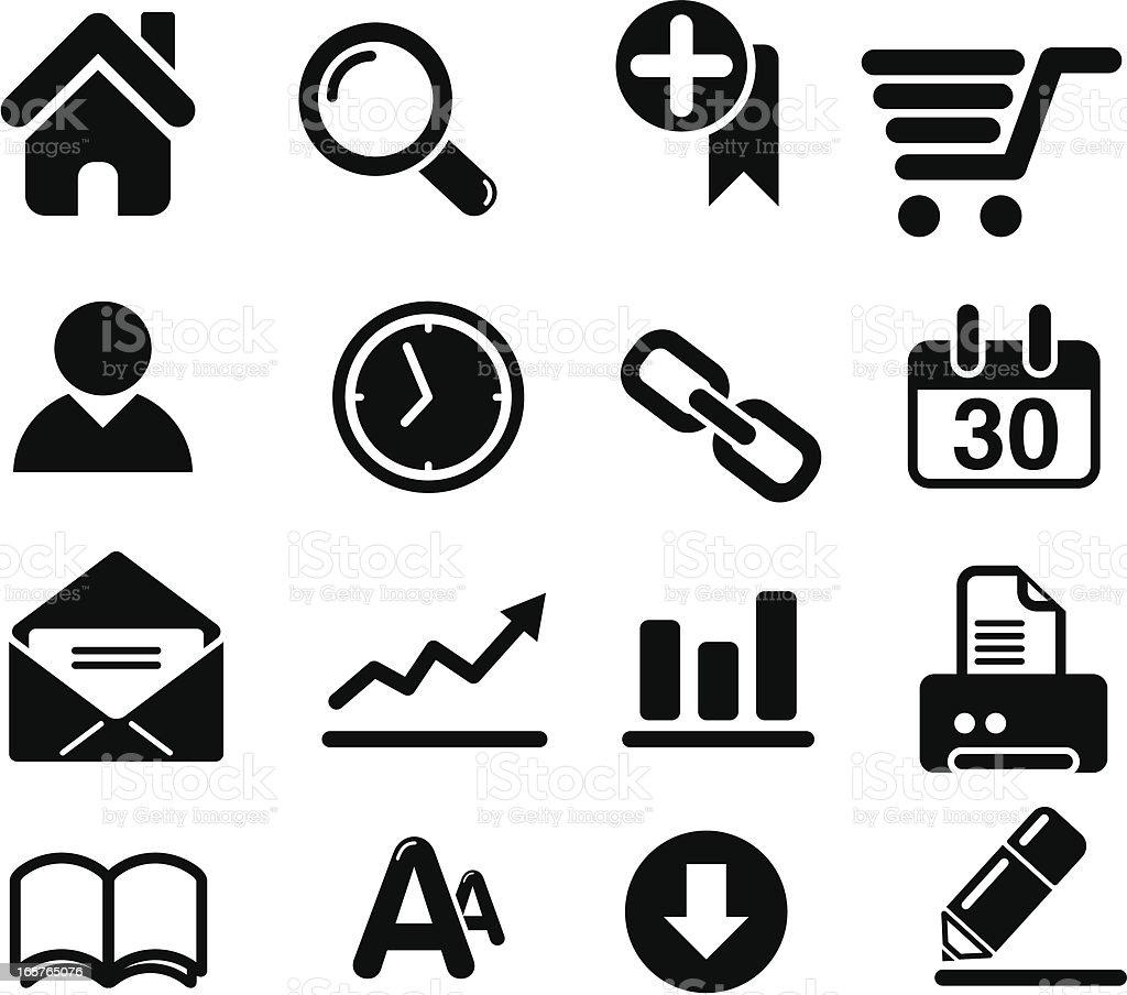 Web Design Icon Set Clip Art royalty-free stock vector art
