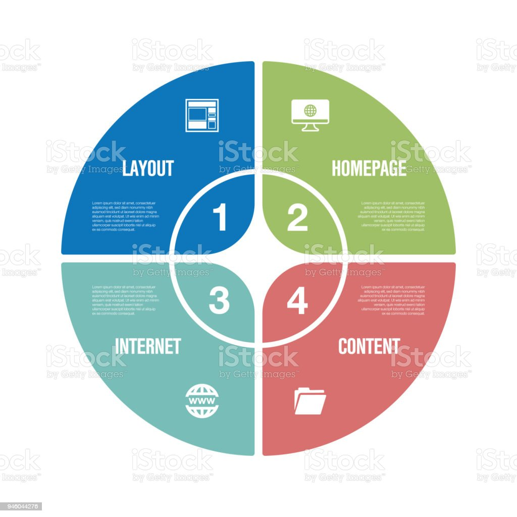 Web Design Infographic Icon Set Stock Vector Art & More Images of ...