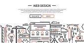Web Design - line website banner temlate