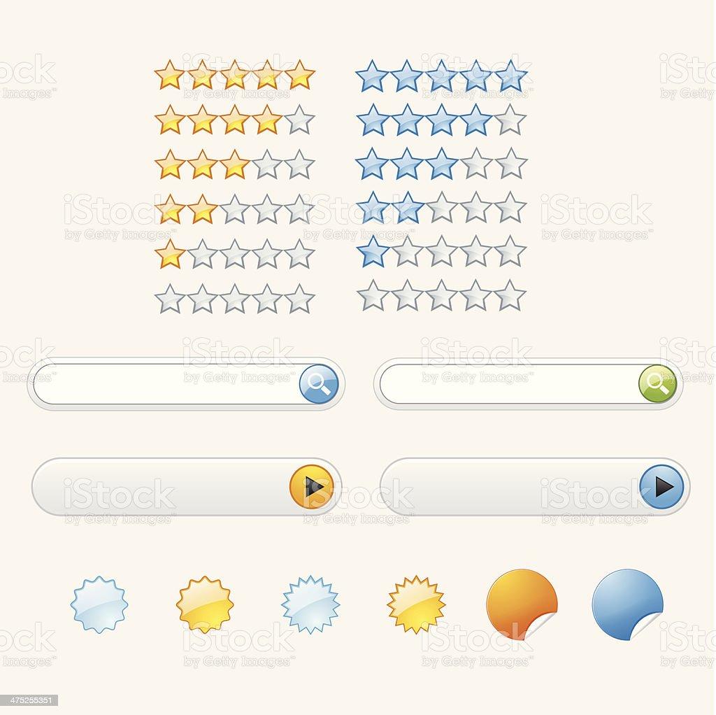 Web design navigation royalty-free stock vector art