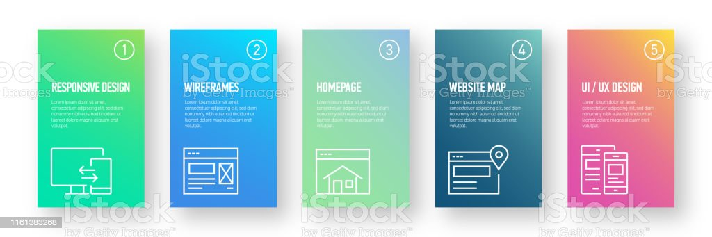 Web Design Related Infographic Design Template With Icons And 5 Options Or Steps For Process Diagram Presentations Workflow Layout Banner Flowchart Infographic Stock Illustration Download Image Now Istock