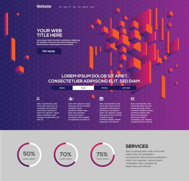 web design template - website infographics stock illustrations, clip art, cartoons, & icons