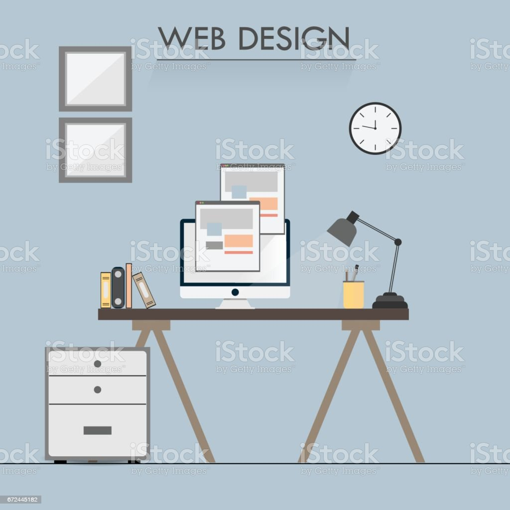 web designer workspace royalty free web designer workspace stock vector art more images