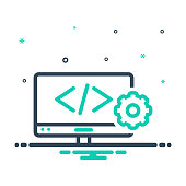 Icon for web develop, coding, programming, browser, page, software, website, webpage, development, web