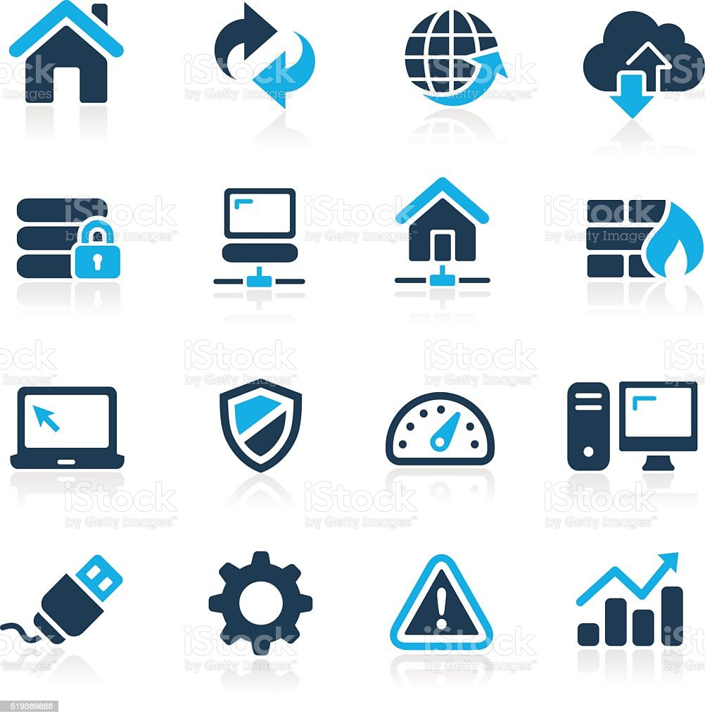 Web Developer Icons - Azure Series vector art illustration
