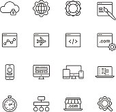 Web Development Line Icons