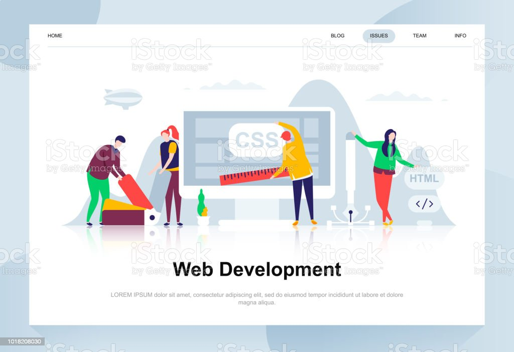 Web Development Modern Flat Design Concept Stock Illustration Download Image Now Istock