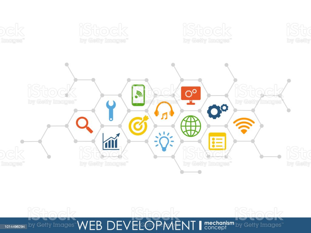 Web Development Progress Concept Connected Graphic Design Line Growth System Abstract Background For Seo Website App Design Vector Infograph Stock Illustration Download Image Now Istock