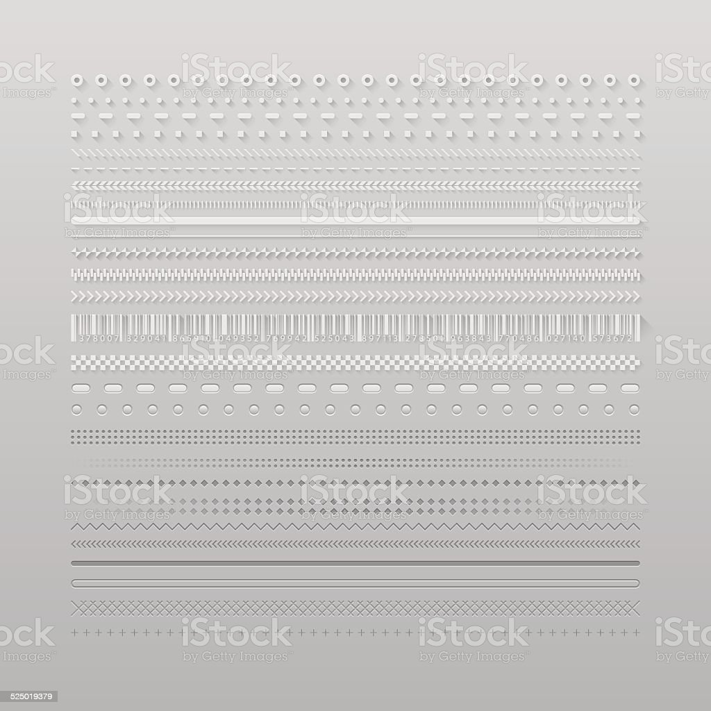 Web dividers vector art illustration