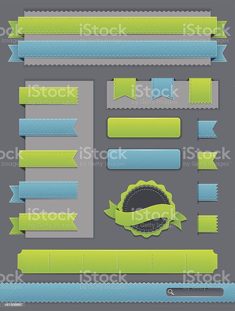 Web Elements royalty-free stock vector art