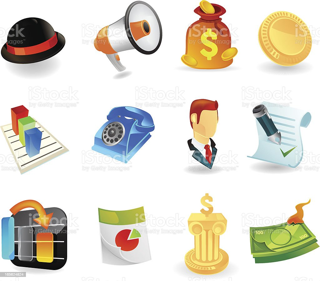 Web Elite | Banking Icons royalty-free web elite banking icons stock vector art & more images of banking