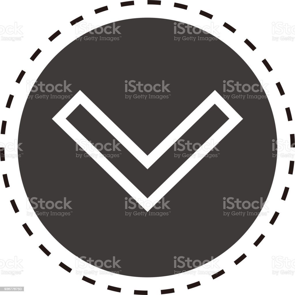 Web Expand Arrow Icon 2 Stock Vector Art & More Images of