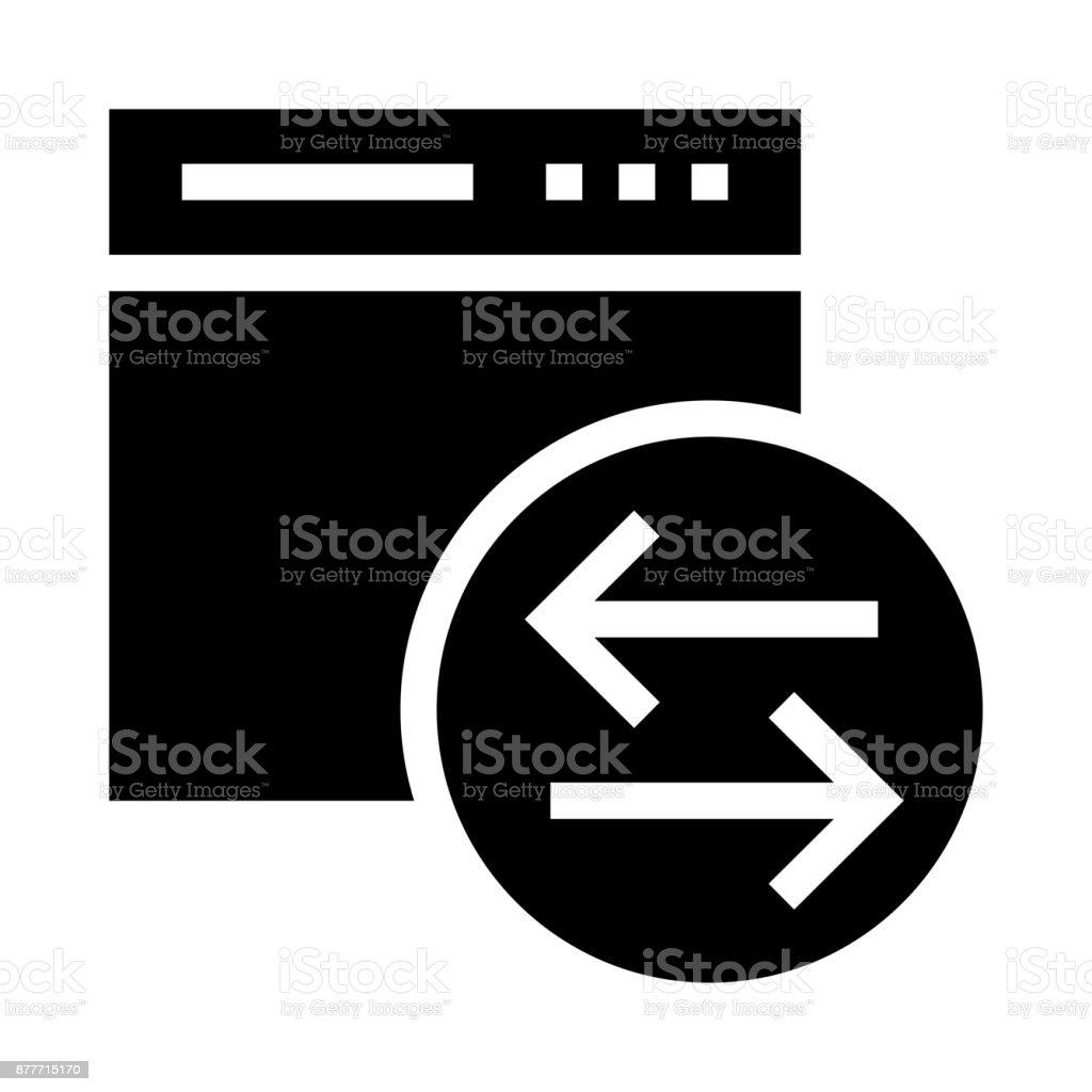 web file transfer Glyphs Vector Icon vector art illustration