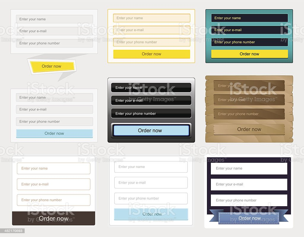 Web forms collection royalty-free web forms collection stock vector art & more images of application form