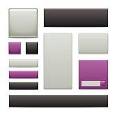 Web Frames - Purple Satin