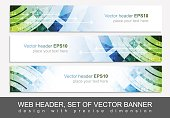 Web header or banner for your project, vector illustration