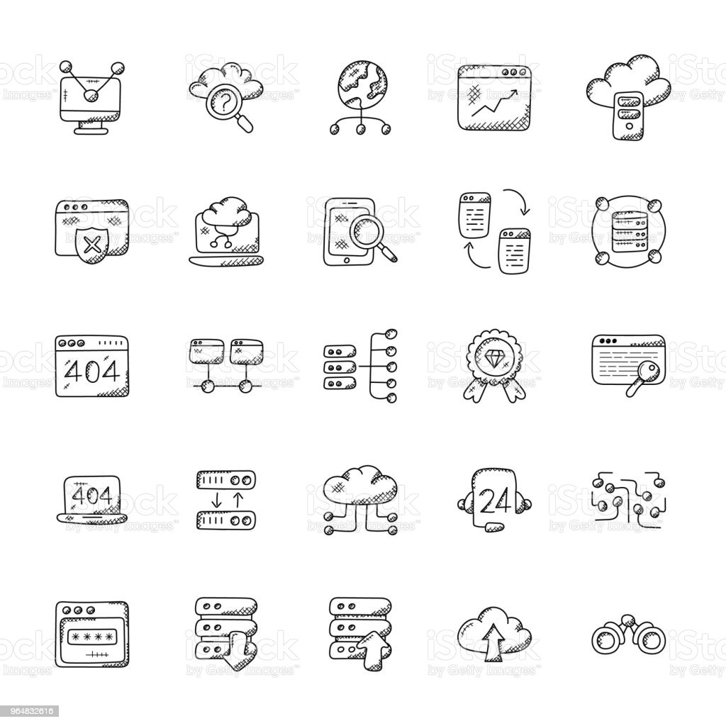 Web Hosting Vector Icons Set royalty-free web hosting vector icons set stock vector art & more images of binoculars