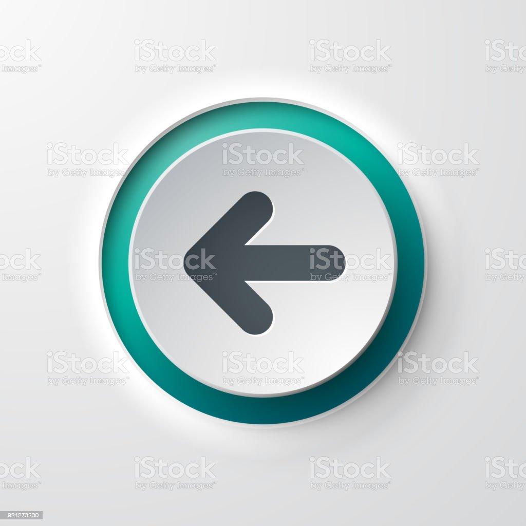 web icon push-button backward arrow vector art illustration