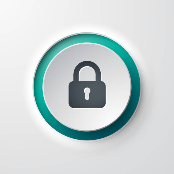 web icon push-button lock web icon push-button lock padlock stock illustrations