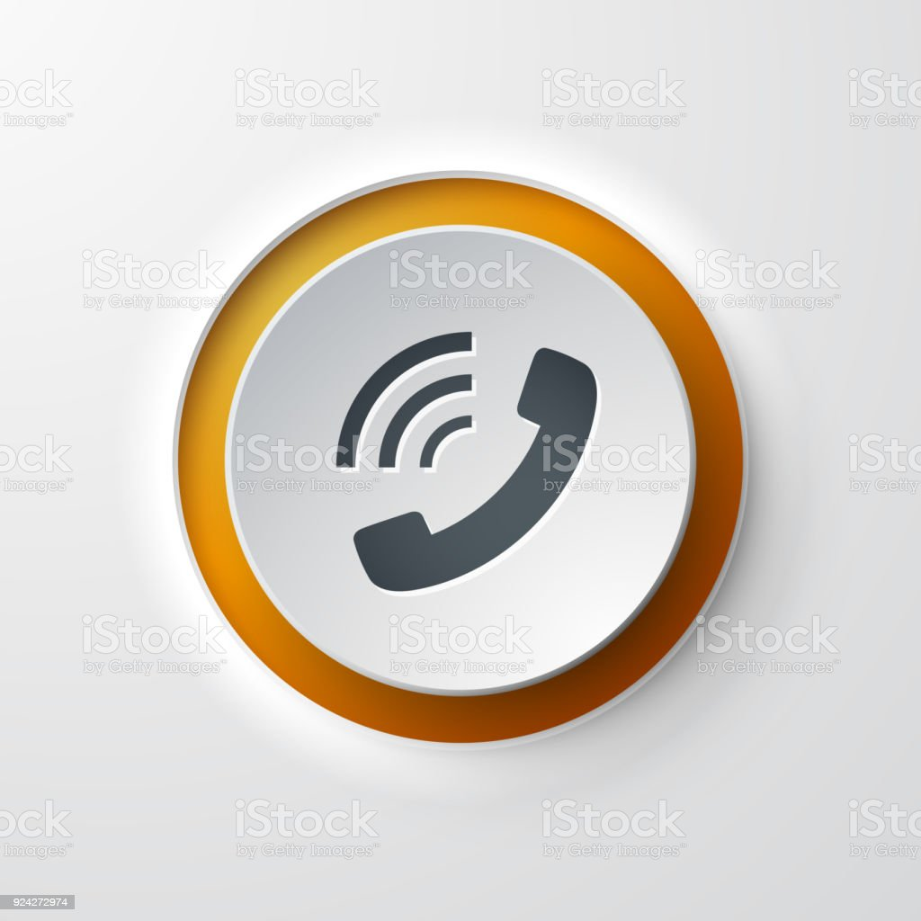 Web Icon Pushbutton Phone Call Stock Illustration - Download