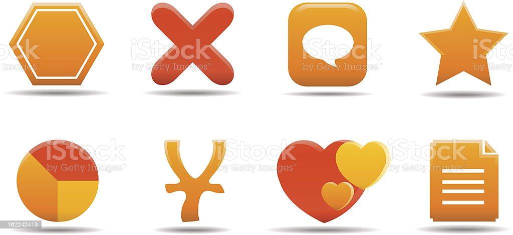 Web icon set 7 | Pumpkin series royalty-free stock vector art