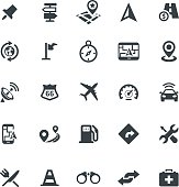 Web icon set - navigation, transport, map