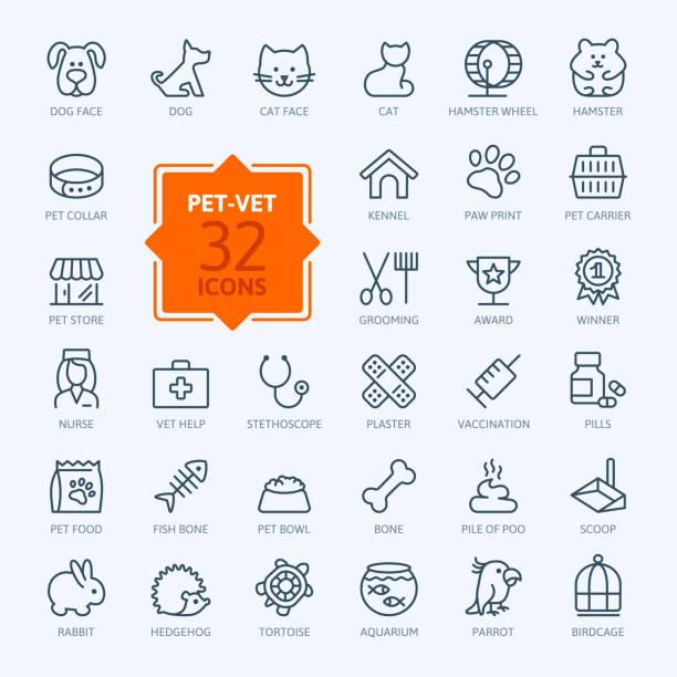 ウェブのアイコンの設定 pet 、獣医、ペットショップ、ペットの種類 - ペットショップ点のイラスト素材/クリップアート素材/マンガ素材/アイコン素材