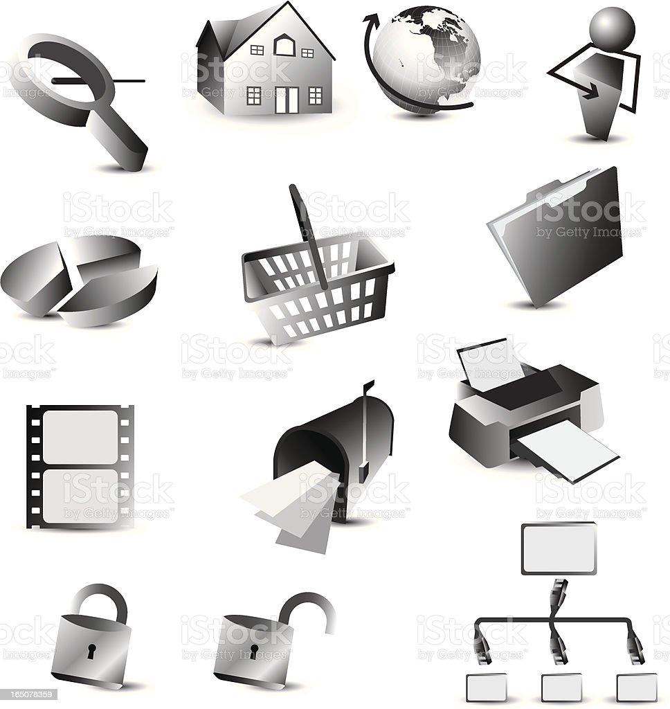 web icon set royalty-free stock vector art