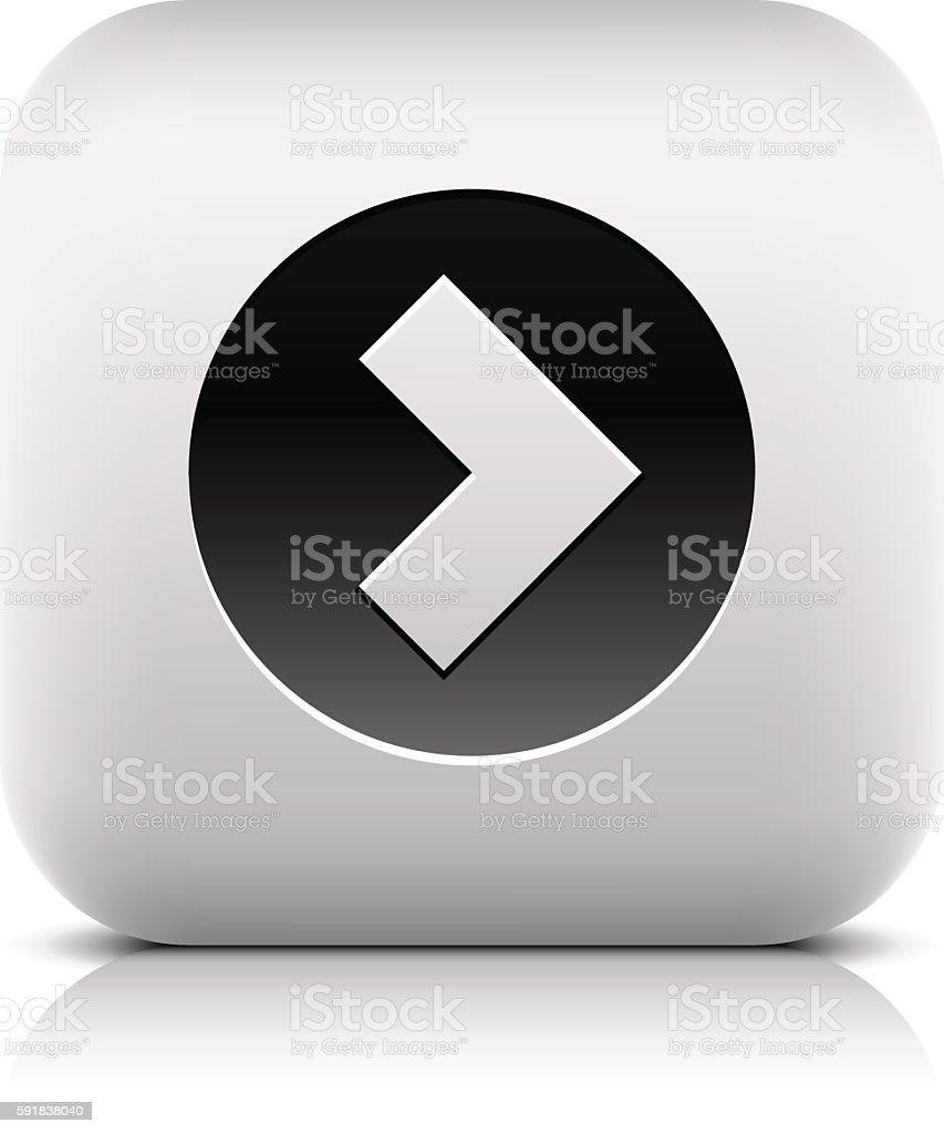 Web Icon with arrow sign in black circle vector art illustration