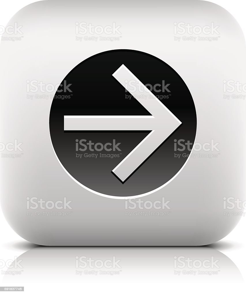 Web icon with black arrow sign in circle vector art illustration