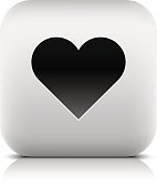Web icon with heart sign