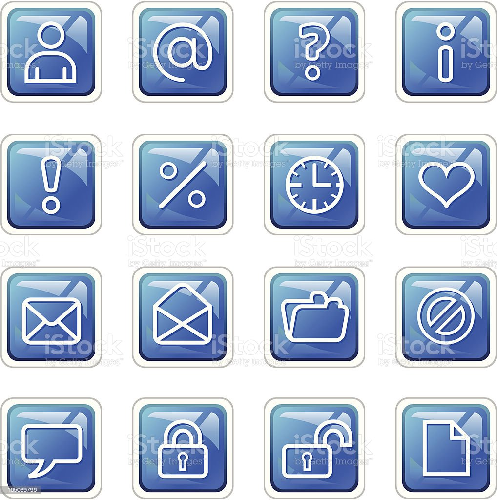 Web Icons 2 - Dark Blue royalty-free web icons 2 dark blue stock vector art & more images of asking