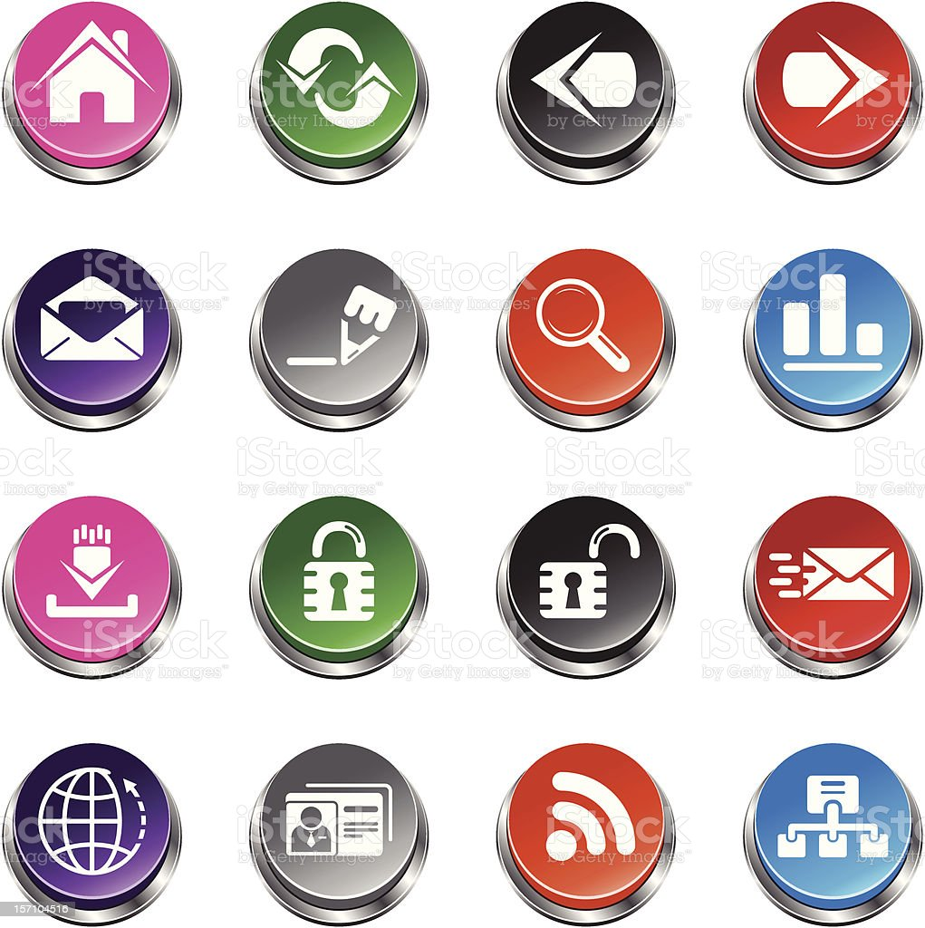 Web Icons 3d Push Button Series Stock Vector Art & More