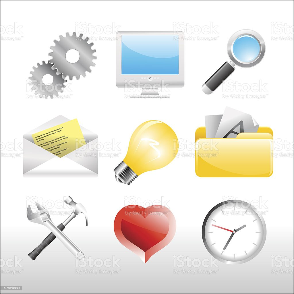 Web icons > Areo series royalty-free web icons areo series stock vector art & more images of clock