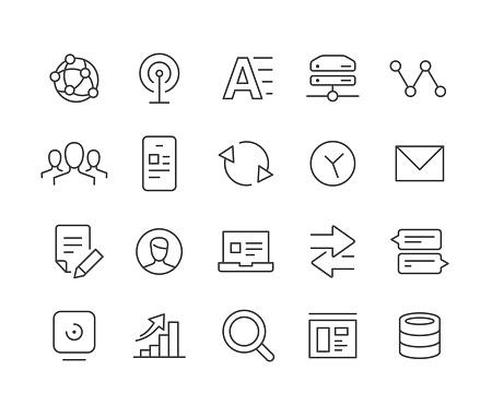 Web Icons - Classic Line Series