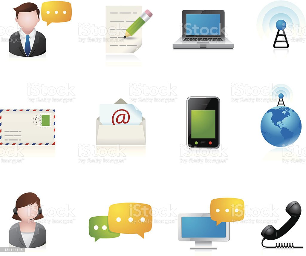 Web Icons - Communication royalty-free stock vector art